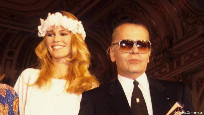 Claudia Schiffer and Karl Lagerfeld. (Imago/Zumapress)