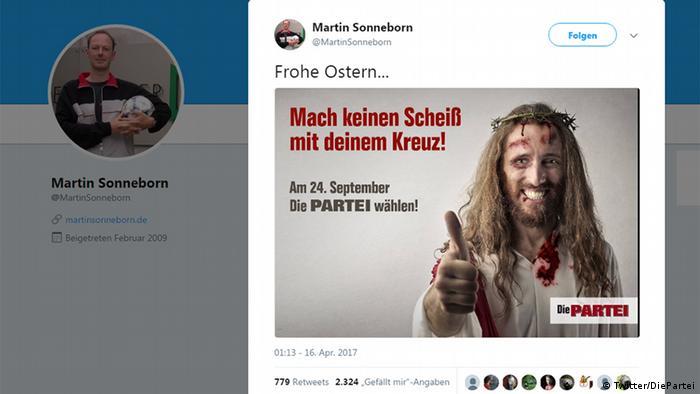 Твиттер плакат партии Партия, выборы в бундестаг-2017