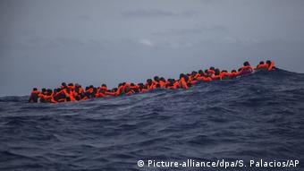 Migrants in sea off Libya