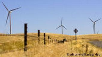 Windenergie Windräder in Kalifornien