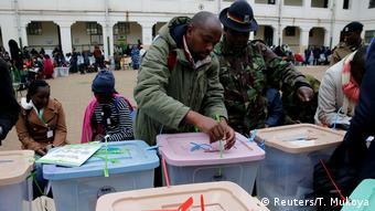 Kenia Nairobi Wahlen Stimmenauszählung