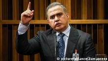 CARACAS, Aug. 8, 2017 Venezuela's prosecutor-general Tarek William Saab speaks during a press conference in Caracas, Venezuela, on Aug. 7, 2017. The prosecutor-general of Venezuela, Tarek William Saab indicated Monday that his predecessor Luisa Ortega Diaz was an ''accomplice of violence'' during opposition protests, that have left over 120 dead in over four months. da |