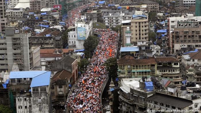 Indien Protest der Maratha in Mumbai (picture-alliance/AP Photo/R. Kakade)