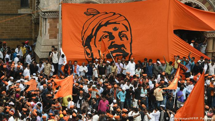 Indien Protest der Maratha in Mumbai (Getty Images/AFP/P. Paranjpe)