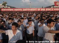 Des Coréens du Nord manifestent à Pyongyang contre les Etats-Unis