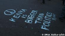 Kenia nach den Wahlen - Graffiti in Nairobi