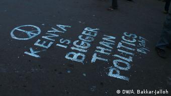 Kenia nach den Wahlen - Graffiti in Nairobi (DW/A. Bakkar-Jalloh)