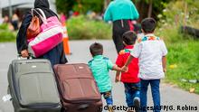 Kanada Flüchtlinge an Grenze zu Roxham Road in Champlain New York