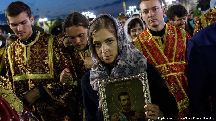 Наталья Поклонская на процессии в память о царе Николае II в Екатеринбурге, июль 2017