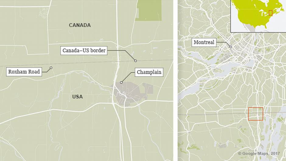 Canada Builds Camp To House Asylum Seekers Near US Border News - Map canada us border