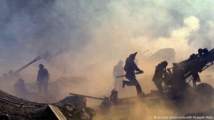 Teilung Indiens Artilleriefeuer in Dras
