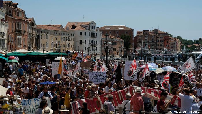 Italien Venedig Protest gegen Tourismus (Reuters/M. Silvestri)