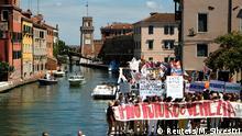 Proteste gegen Massentourismus in Venedig Anfang Juli