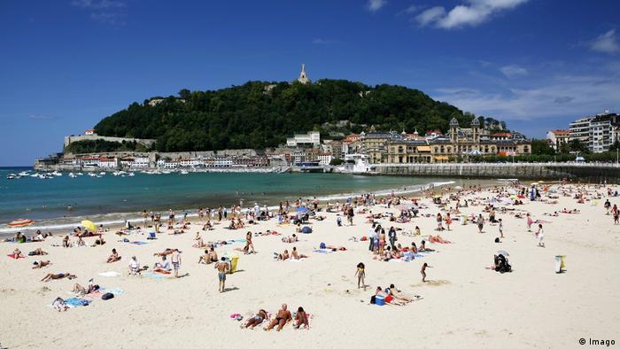 Plaża w San Sebastian w Hiszpanii
