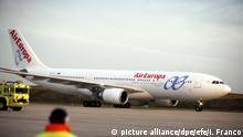 Uruguay Flugzeug der spanischen Gesellschaft Air Europa