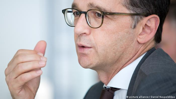 Justice Minister Heiko Maas of the Social Democrats during an interview in Berlin in July 2017 (picture alliance / Daniel Naupold/dpa)