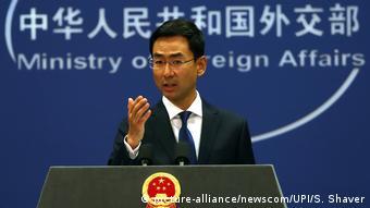 China - Außenminister Geng Shuang - PK in Beijing