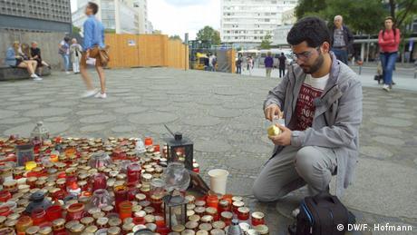 Masoud Aqil at Breitscheidplatz, Berlin