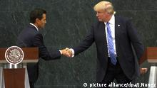 Donald Trump trifft Enrique Pena Nieto (picture alliance/dpa/J.Nunez)
