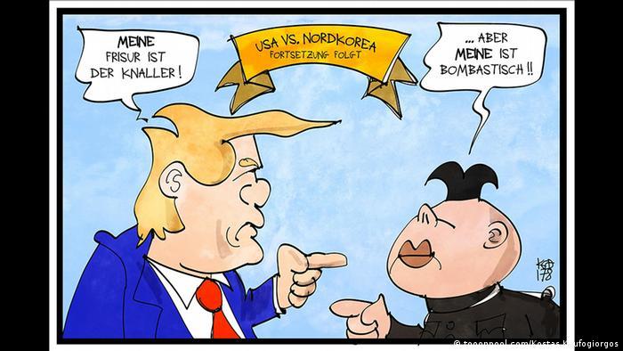 Дональд Трамп и Ким Чен Ын меряются прическами