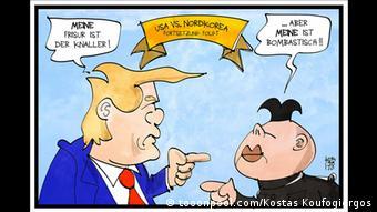 Karikatur - Donald Trump und Kim Jong-un zu USA/Nordkorea