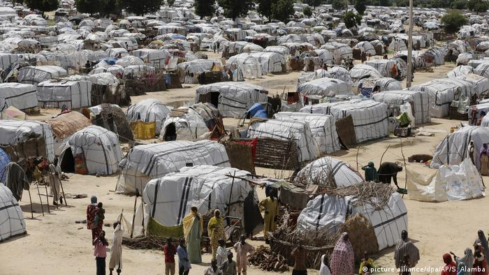 A camp for displaced people in Nigeria's north