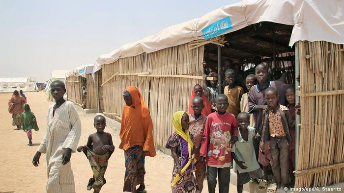 Kinder in einem Flüchtlingslager der Vereinten Nationen in Nord-Nigeria