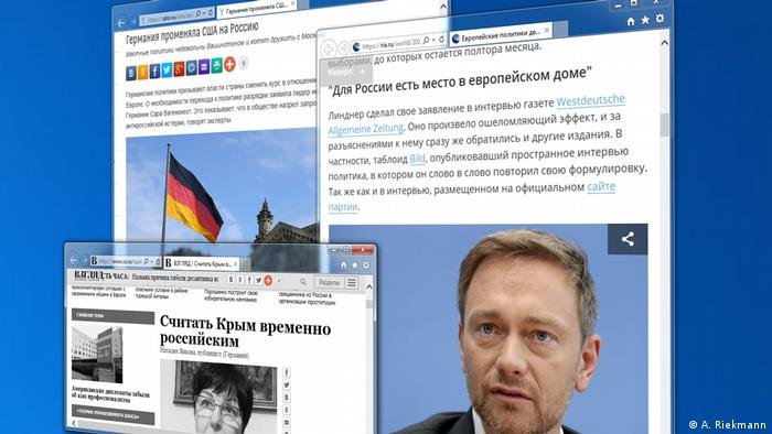Russian press reporting Christian Lindner's statements about Crimea (A. Riekmann)