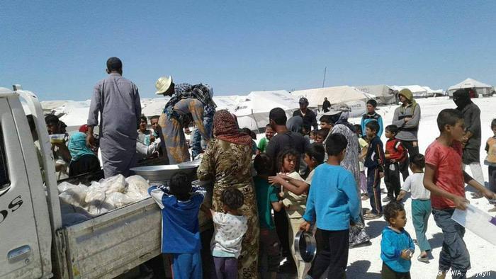 Irak Die Zivilisten in Rakka