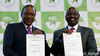 Rais Uhuru Kenyatta na Naibu wake William Ruto