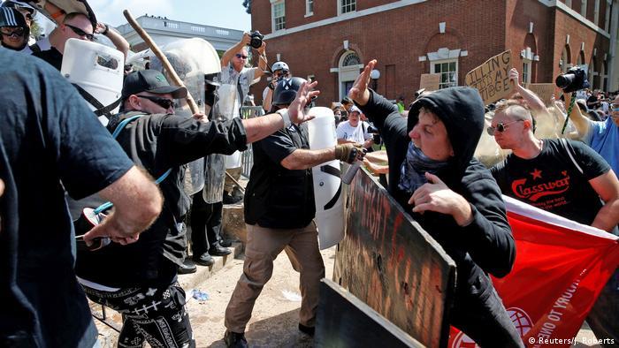 USA Charlottesville Virginia Konflikte Unite The Right vs. Gegendemonstranten