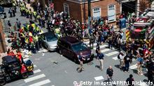 USA Charlottesville Virginia Verkehrsunfall bei Unite The Right Marsch mit Verletzten