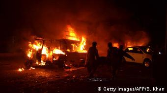 Pakistan Quetta Anschlag auf Militärfahrzeug (Getty Images/AFP/B. Khan)