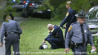 USA Virginia Charlottesville - Trauer nach tödlichem Helikoptercrash während Krawalle
