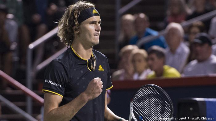 Kanada Montreal - Alexander Zverev während Semifinals Rogers Cup Tennis Tournament (picture-alliance/AP Photo/P. Chiasson)