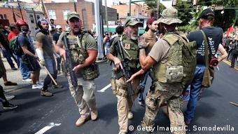 USA Virginia - Ausschreitungen nach Demonstrationen (Getty Images/C. Somodevilla)