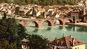 Deutschland Geschichte Heidelberg Neckar und Altstadt 1894