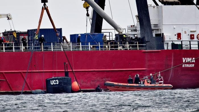 Dänisches U-Boot versunken