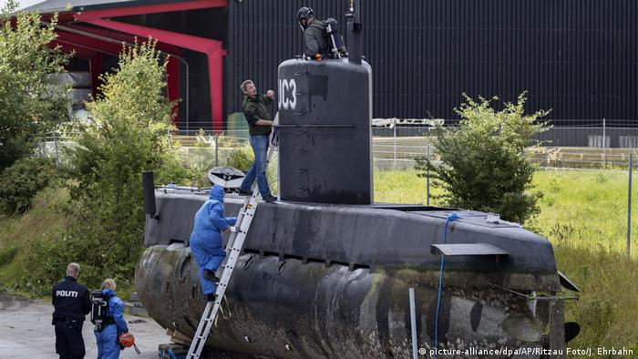 Dänisches U-Boot Nautilus (picture-alliance/dpa/AP/Ritzau Foto/J. Ehrbahn)