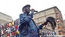 Kenia Oppositionsführer Raila Odinga im Mathare slum in Nairobi