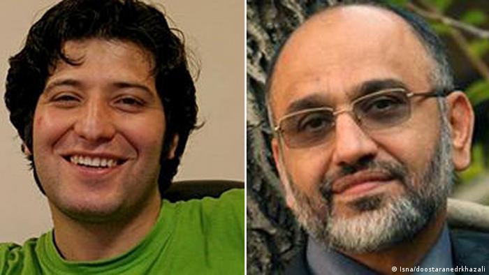 Sassan Aghai Dr. Mehdi Khazal Journalismus Bildkombo (Isna/doostaranedrkhazali)