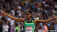 Athletics - World Athletics Championships - Women's 800 Metres - London Stadium, London, Britain – August 13, 2017. Caster Semenya of South Africa celebrates winning the final. REUTERS/Toby Melville