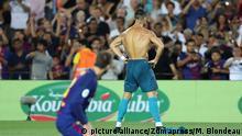 Fußball - Spanischer Super Cup - FC Barcelona gegen Real Madrid.