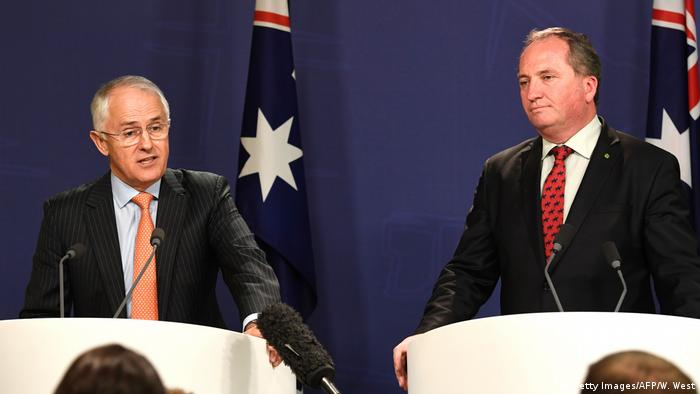 Australien Malcolm Turnbull und Barnaby Joyce (Getty Images/AFP/W. West)