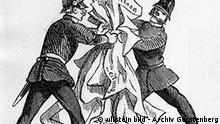Deutschland Geschichte Presse Zensur Karikatur auf die Pressezensur
