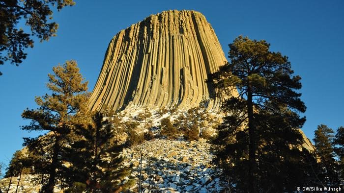 Devils Tower in Wyoming, USA (DW/Silke Wünsch)