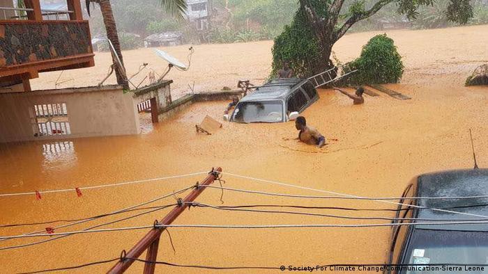 Sierra Leone Schlammlawine (Society For Climate Change Communication-Sierra Leone)