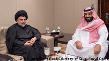 Saudiischer Kronprinz Mohammed bin Salman trifft sich mit dem irakischen Schiitenführer Muqtada al-Sadr