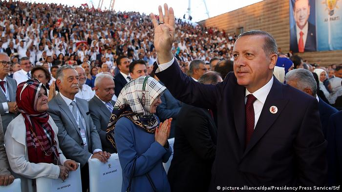 Turkish President Erdogan (picture-alliance/dpa/Presidency Press Service/Stf)