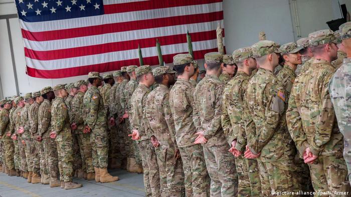 Deutschland US-Soldaten in den Storck-Barracks in Illesheim